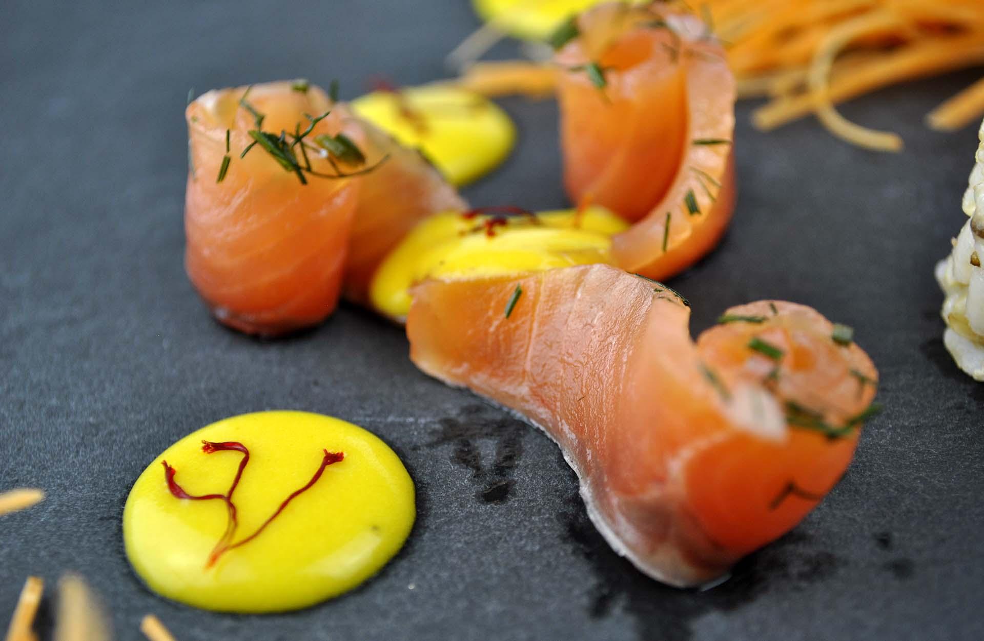 salmone e zafferano